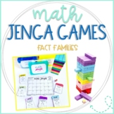 Math Jenga Game Cards for Fact Families