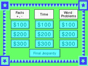 Math Jeopardy 1 Power Point Lesson