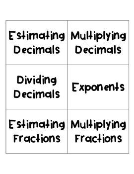 6th Grade Math Game Show Review Activity Bundle