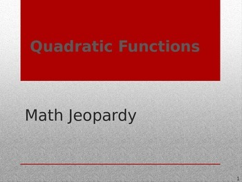 Math Game - Quadratics