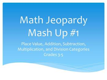 Math Jeopardy Mash Up #1