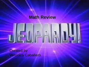 Math Jeopardy Review 4th Grade