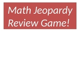 Math Jeopardy Review Game