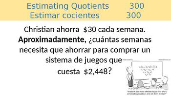 Math Jeopardy (Spanish)