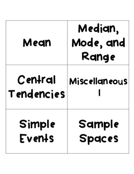 Math Jeopardy: Statistics and Probability