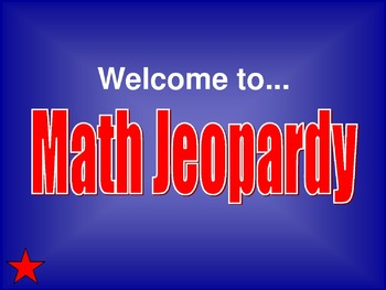 Math Jeopardy Board 3rd, 4th, 5th Grade #2