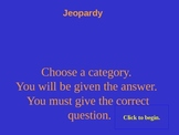 Math Jeopardy review
