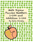 Math Jigsaw Puzzles Numbers 1-100 and Addition 1-100