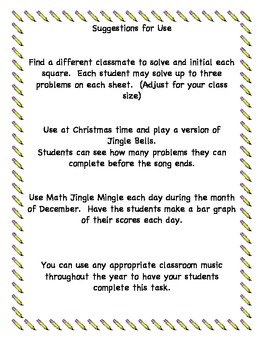 Math Jingle Mingle Multiplication