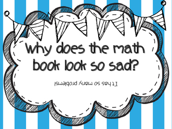Math Joke Posters for Elementary Students
