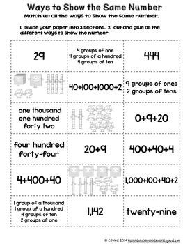 Math Journal Activities