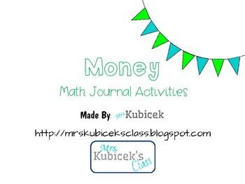 Math Journal Activities: Money