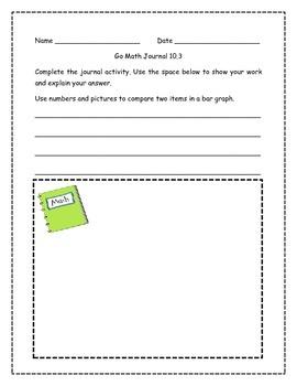 Go Math! Math Journal Activities for Grade 1, Chapter 10