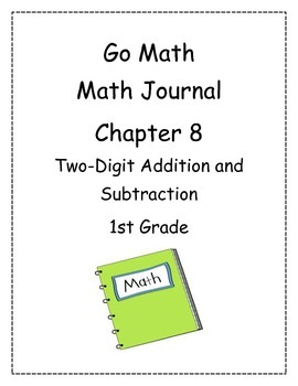 Go Math! Math Journal Activities for Grade 1, Chapter 8