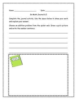 Go Math! Math Journal Activities for Grade 1, Chapter 8