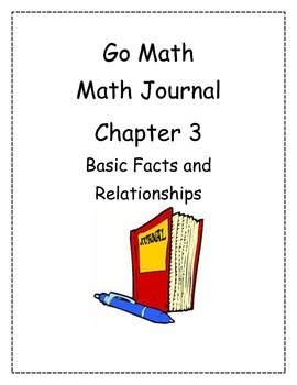 Go Math! Math Journal Activities for Grade 2, Chapter 3