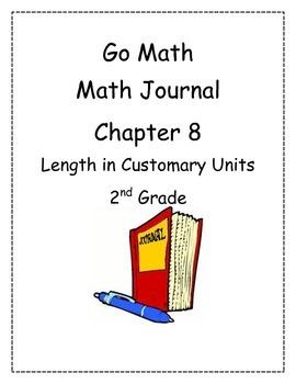 Go Math! Math Journal Activities for Grade 2, Chapter 8