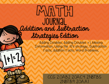 Math Journal Addition and Subtraction Strategies Edition
