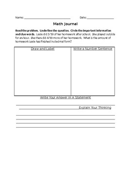Math Journal (Advanced Version & Editable)