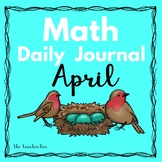 Kindergarten-Math- Special Education - Math Daily Journal April