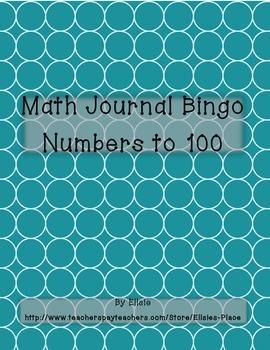 Math Journal Bingo
