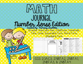 Math Journal Booklet Number Sense Edition
