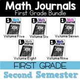 First Grade Math Journal Bundle Second Semester