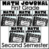 First Grade Math Journal Bundle 2nd Semester