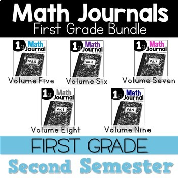 First Grade Math Journal Bundle 2nd Semester
