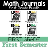 First Grade Math Journal Bundle 1st Semester