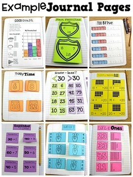 First Grade Math Journal Bundle 1st Semester