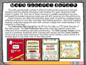 Math Journal Bundle - The Ultimate Math Journal Bundle for Upper Elementary Math
