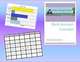 Math Journal: Calendar