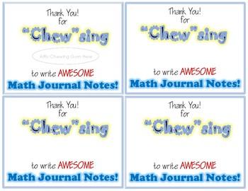 Math Journal Class Award