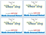 Math Journal Class Award
