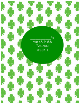 Math Journal - Common Core- Daily - Calendar - March - Dai