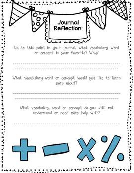 Math Journal Components