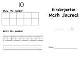 Math Journal Count 1-10