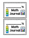 Math Journal Cover