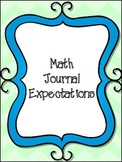 Math Journal Cover Freebie