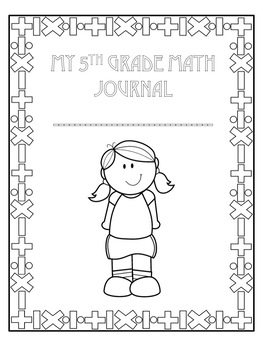 Math Journal Cover Page