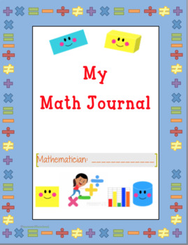 Math Journal Cover (Primary Grades)