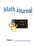 Math Journal Cover with Template