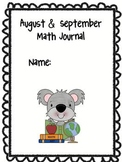 Math Journal Covers {booklet}