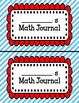 Math Journal Covers for Composition Notebooks EDITABLE