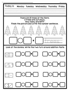 Math Journal December (Common Core Aligned)