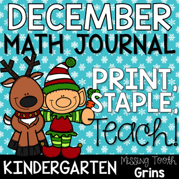 Math Journal December (Kindergarten)