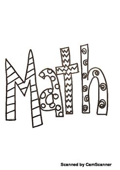 Math Journal Doodle