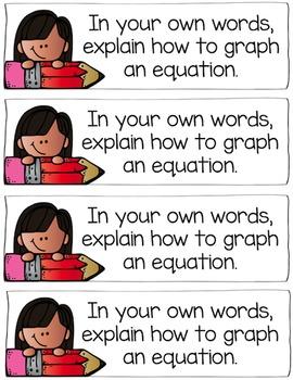 5th Grade Equations Math Journal