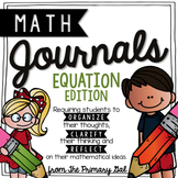5th Grade Equations Math Journal